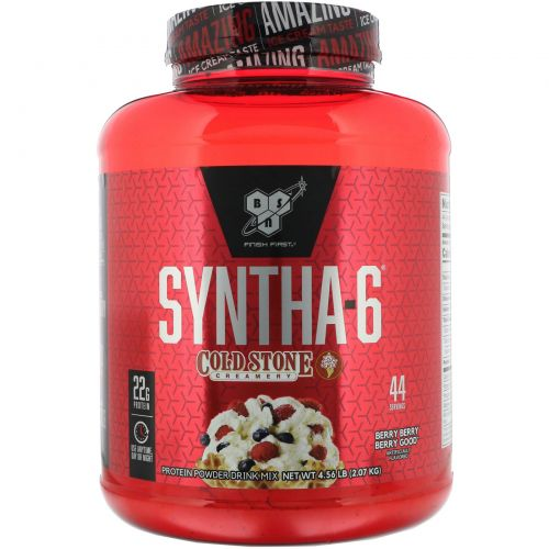 BSN, Протеиновая смесь Syntha-6, Cold Stone Creamery, с ягодным вкусом Berry Berry Berry Good, 2,07кг