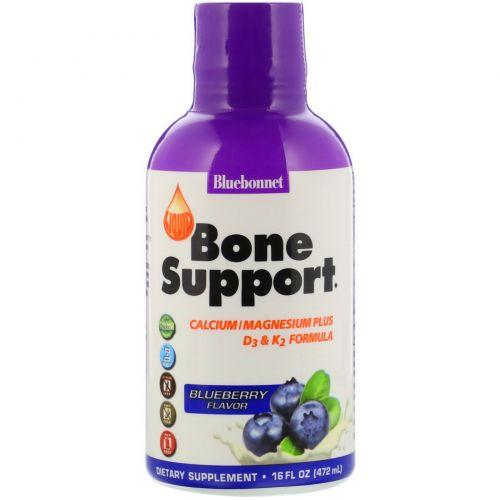 Bluebonnet Nutrition, Liquid Bone Support, Blueberry Flavor, 16 fl oz (472 ml)