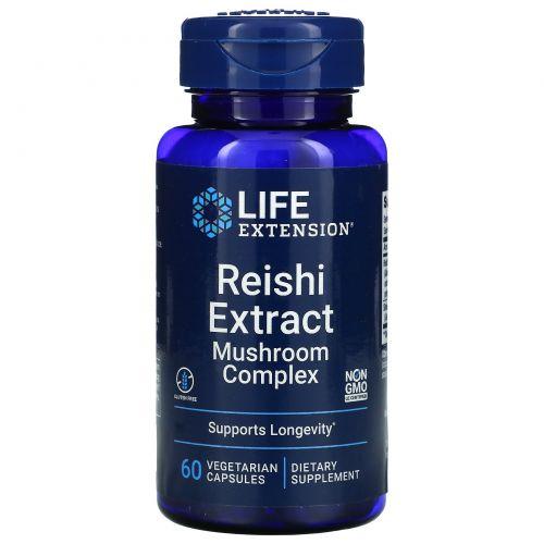 Life Extension, Грибной комплекс с экстрактом Рейши, 60вегетарианских капсул