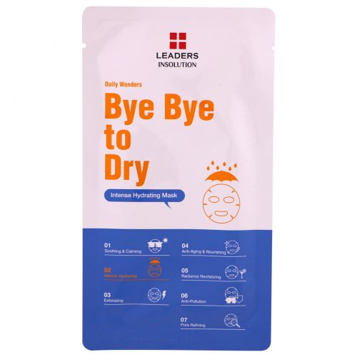 Leaders, Bye Bye to Dry, Intense Hydrating Mask, 1 Mask
