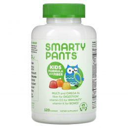 SmartyPants, Kids Complete + мультиволокна + омега-3 + витамин D, 120 вкусных жевательных конфет