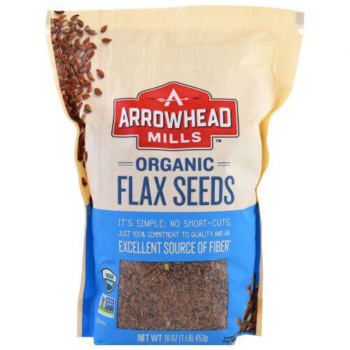 Arrowhead Mills, Органические семена льна, 16 унций (453 г)