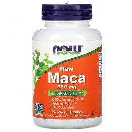 Now Foods, Мака, сырая, 750 мг, 90 вегетарианских капсул