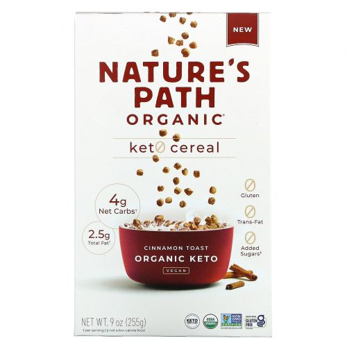 Nature's Path, Keto Cereal, Cinnamon Toast, 9 oz (255 g)