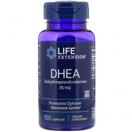 Life Extension, DHEA (дегидроэпиандростерон), 25 мг, 100 капсул
