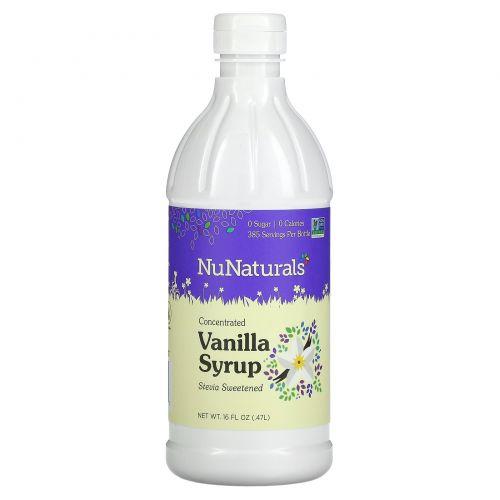 NuNaturals, NuStevia, ванильный сироп, 16 жидких унций (47 л)