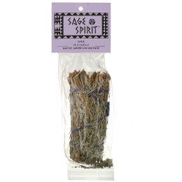 Sage Spirit, Благовоние коренных американцев, Шалфей, 1 палочка для окуривания малого размера (10-12 см)