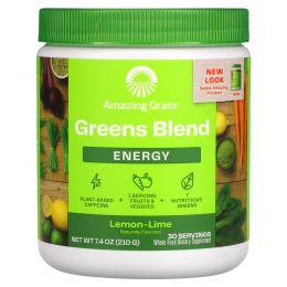 Amazing Grass, Зеленый суперпродукт, энергия, лимон лайм, 7,4 унции (210 г)