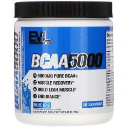EVLution Nutrition, Аминокислоты с разветвленной цепью 5000, синий раз, 8,5 унц. (240 г)
