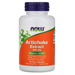Now Foods, Экстракт артишока, 450 мг, 90 вегетарианских капсул
