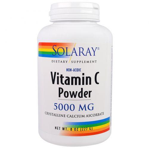 Solaray, Витамин С в порошке, 5000 мг, 8 унций (227 г)