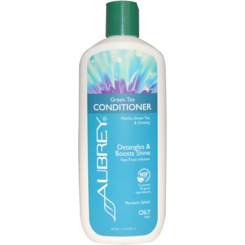 Aubrey Organics, Green Tea Conditioner, Matcha Green Tea & Ginseng, Mandarin Splash, 11 fl oz (325 ml)