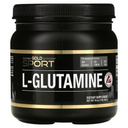 California Gold Nutrition, L-глутамин, AjiPure, порошок без примесей, без глютена, 16 унций (454 г)