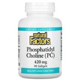 Natural Factors, Фосфатидилхолин (PC), 420 мг, 90 гелевых капсул