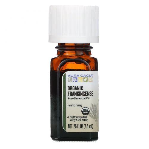 Aura Cacia, Organic Frankincense, .25 fl oz (7.4 ml)