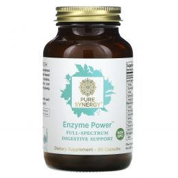 The Synergy Company, Enzyme Power, Full-Spectrum Digestive Support, 90 Capsules