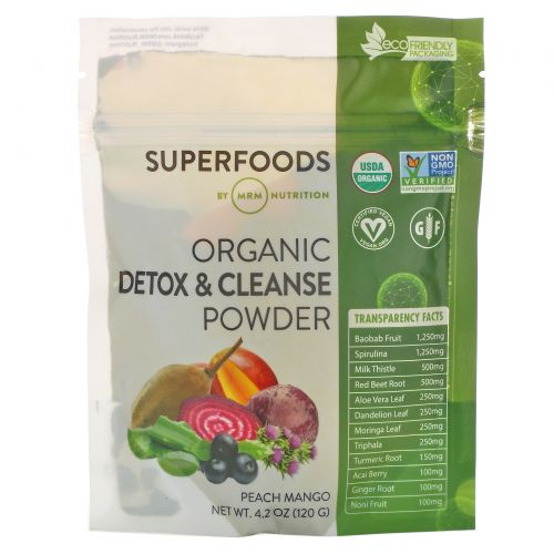MRM, Organic Detox & Cleanse Powder, 4.2 oz (120 g)