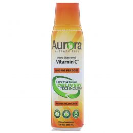 Aurora Nutrascience, Micro-Liposomal Vitamin C, вкус органических фруктов, 1000 мг, 5,4 ж. унц. (160 мл)