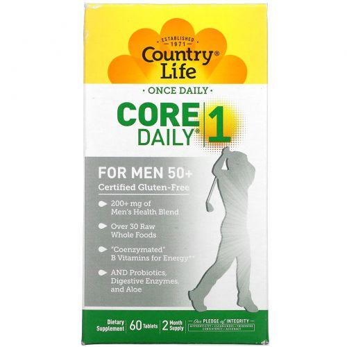 Country Life, Core Daily-1, Мультивитамины, для Мужчин 50+ 60 таблеток