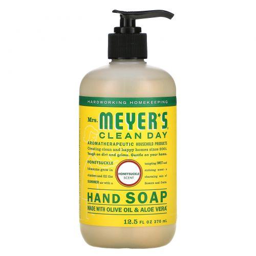 Mrs. Meyers Clean Day, Жидкое мыло для рук с ароматом жимолости, 12,5 жидких унций (370 мл)