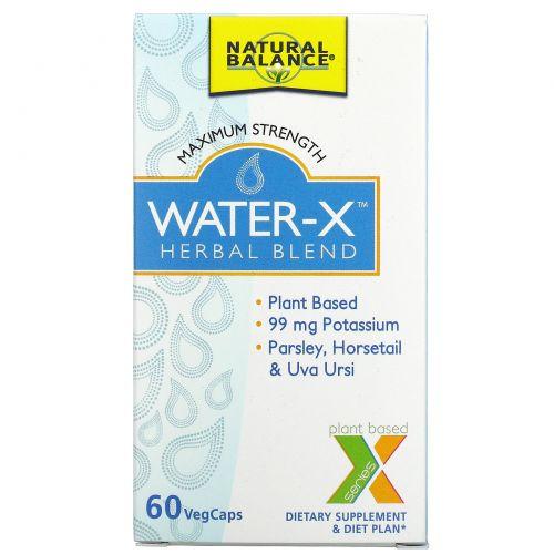 Natural Balance, Water-X, Herbal Blend, 60 Veggie Caps