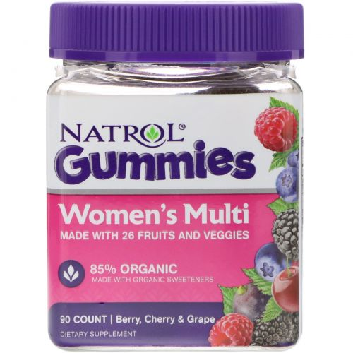 Natrol, Мармеладки, Women's Multi, ягоды, вишня и виноград, 90 штук