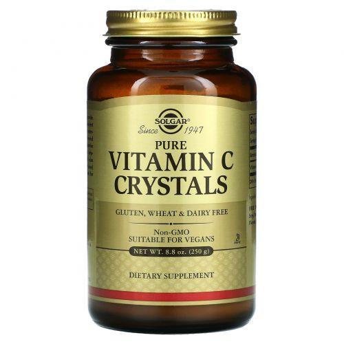 Solgar, 100% чистые кристаллы витамина C, 250 г