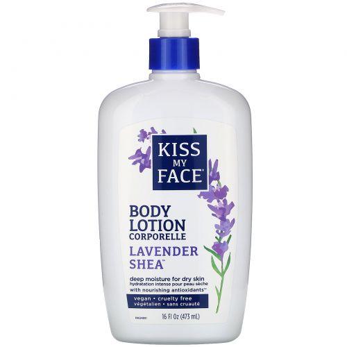 Kiss My Face, Body Lotion, Lavender Shea, 16 fl oz (473 ml)