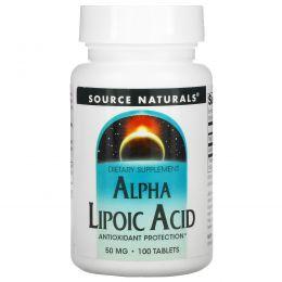 Source Naturals, Альфа-Липоевая Кислота 100 таблеток