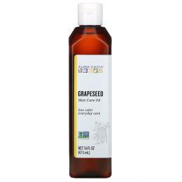 Aura Cacia, Натуральное масло для кожи, приносящие гармонию семена винограда, 16 жидких унций (473 мл)