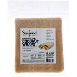 Sunfood, Необработанный органический продукт, Кокосовые конвертики, 7 конвертиков, 14 г в каждом