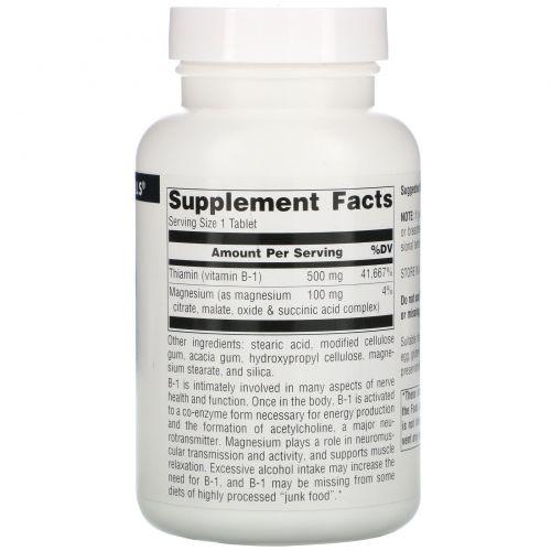 Source Naturals, B-1, High Potency, 500 мг, 100 таблеток
