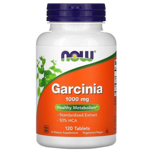 Now Foods, Гарциния, 1,000 мг, 120 таблеток