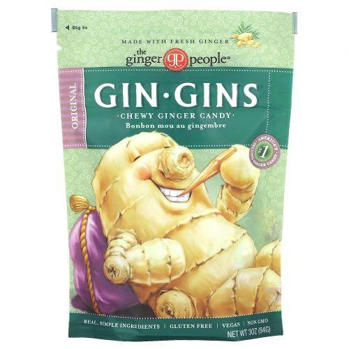 The Ginger People, Gin·Gins, жевательное имбирное печенье, оригинальное, 3 унц. (84 г)