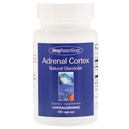 Allergy Research Group, Кора надпочечников, натуральный эндокринный продукт, 100 капсул в растительной оболочке