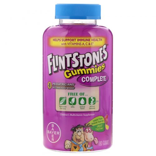 Flintstones, Жевательные конфеты Complete, мультивитамин для детей, 180 конфет