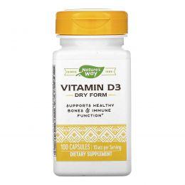 Nature's Way, Витамин D-400, натуральная сухая форма, 100 капсул