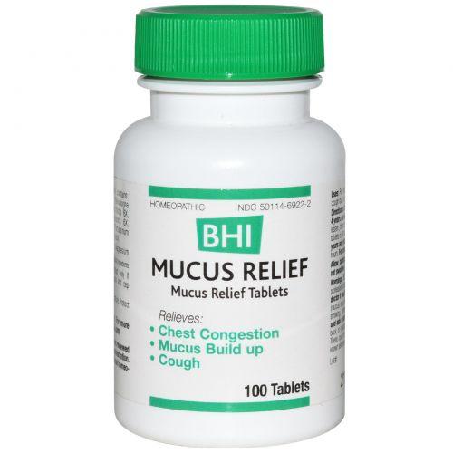 MediNatura, BHI, средство для уменьшения слизеобразования, 100 таблеток