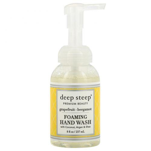 Deep Steep, Пенящееся мыло, грейпфрут и бергамот, 8 жидких унций (237 мл)