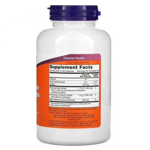 Now Foods, Глюкозамин и хондроитин с MSM, 180 капсул
