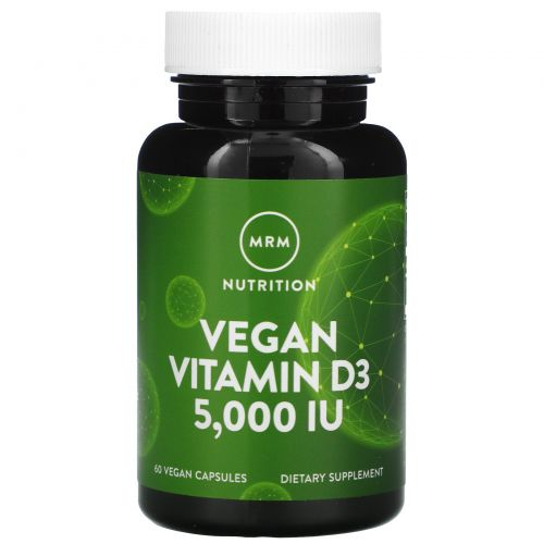 MRM, Веганский витамин D3, 5 000 МЕ, 60 веганских капсул