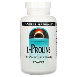 Source Naturals, Порошок L-пролина, 4 унции (113.4 г)