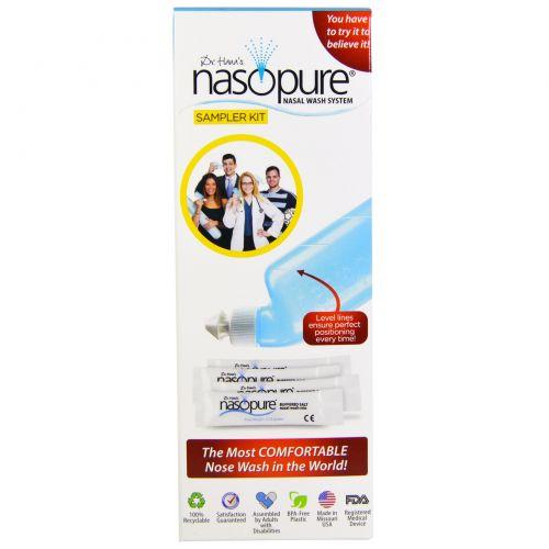 Nasopure, Dr. Hana's, система для промывания носа, набор с 1 флаконом