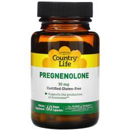 Country Life, Прегненолон, 30 мг, 60 растительных капсул