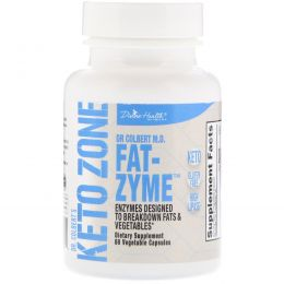 Divine Health, Dr. Colbert's Keto Zone, Fat-Zyme, 60 Vegetable Capsules