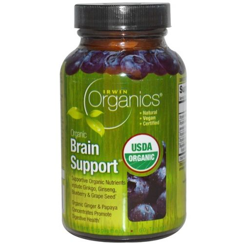 Irwin Naturals, Organics, Brain Support, 60 таблеток
