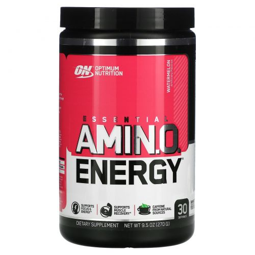 Optimum Nutrition, Энергетическая добавка с незаменимыми аминокислотами, Арбуз, 9,5 фунта (270 г)