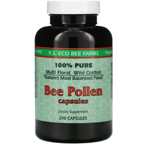 Y.S. Eco Bee Farms, Пчелиная пыльца, 200 капсул