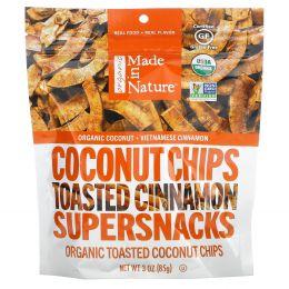 Made in Nature, Органические поджаренные кокосовые чипсы, вьетнамский коричный вихрь, 3,0 унции (85 г)