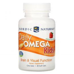 Nordic Naturals, Омега для детей для ежедневного употребления, фруктовый вкус, 500 мг, 30 жевательных капсул